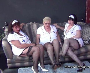 Three bbw grannies in nurses
