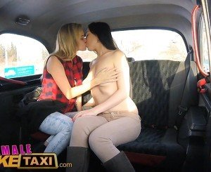 Female Fake Taxi Pretty brunette