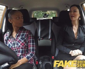 Fake Driving School busty ebony